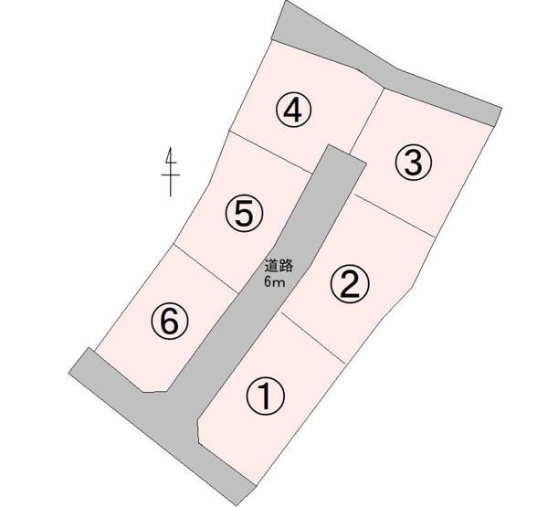 【土地図】山梨市大野 6区画