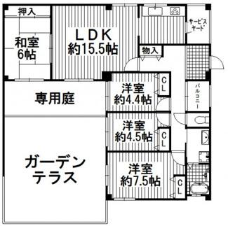 移瀬ガーデン壱番街 4階
