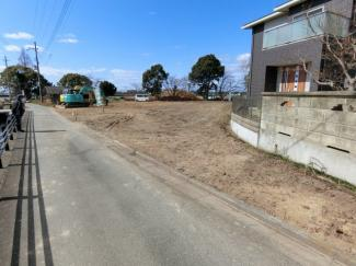 3号地 南側道路 東側から撮影