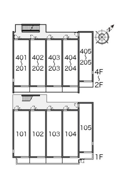 【区画図】クレイノアイフィールド八千代
