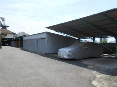 【外観】大野屋根付き駐車場