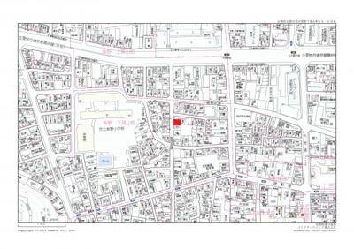 【地図】紫野下築山町 売土地