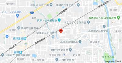 【地図】東五百住町テラスハウス 株式会社Roots
