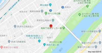 【地図】鳥飼下貸家