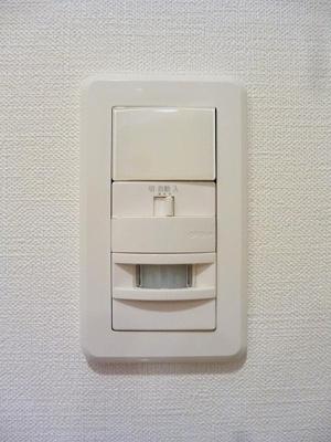 ルジェンテ・バリュ上野の人感センサー付玄関ライトです