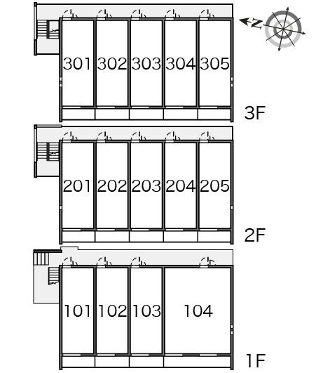 【区画図】クレイノNSⅡ