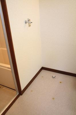 室内に洗濯機置き場です。