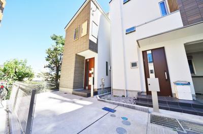 【外観】LDK17.5帖の大型3LDK♪スカイバルコニー付。保土ヶ谷区今井町 全8棟新築戸建て