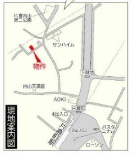 【地図】新築分譲住宅神奈川区片倉