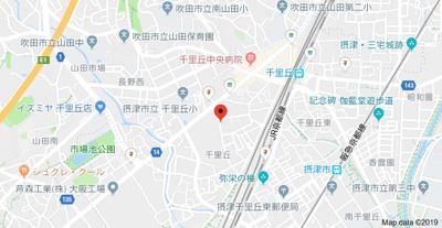 【地図】フジパレス千里丘
