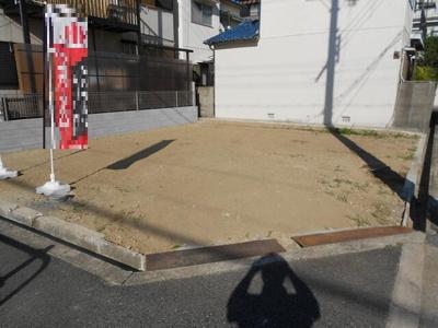 【前面道路含む現地写真】高石市取石 売地