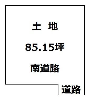 【土地図】大仙市大曲西根字鳥居 土地物件85.15坪(281.49㎡) 資材置き場などに