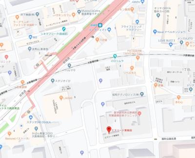 【地図】エスリード東梅田