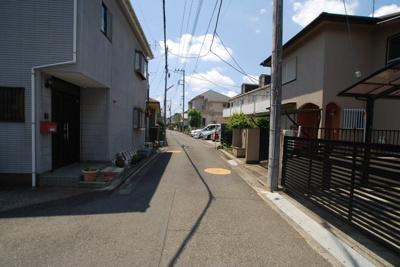 【前面道路含む現地写真】国分寺市東恋ヶ窪売地