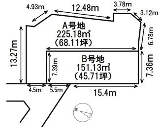 【区画図】川西市西多田2丁目15の1 B号地