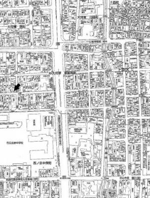 【地図】大将軍東鷹司町 売土地