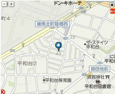 【地図】プリマヘイワダイ