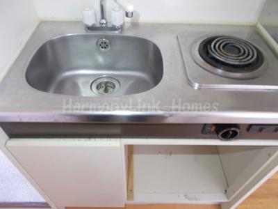 アネックス中野IIのコンパクトなキッチンで掃除もラクラク