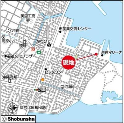 【地図】新築戸建 沖縄市泡瀬Ⅳ 1号棟