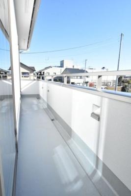【バルコニー】鴻巣市天神3丁目 新築分譲住宅全10棟
