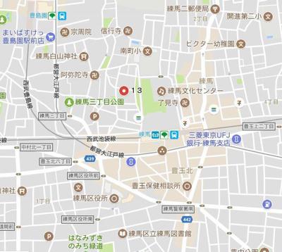【地図】クレセントコート