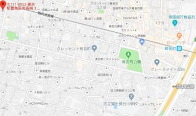 【地図】ソルビオス椎名町