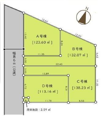 【区画図】新築戸建/ふじみ野市川崎1丁目