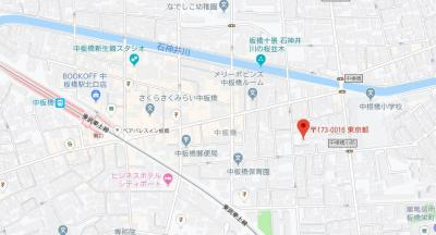 【地図】ベレッツァ中板橋