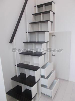 ハーモニーテラス武蔵中原の収納付き階段➁☆