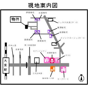 【地図】カレッチヒルサンシオン