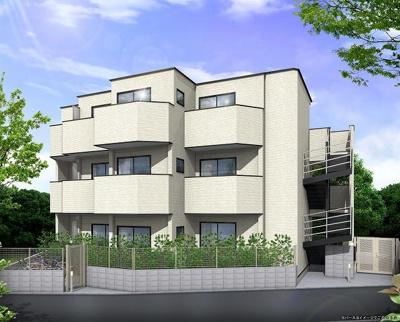 (仮)新百合ヶ丘デザイナーズアパートの外観パース