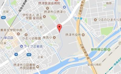 【地図】メルベーユ摂津