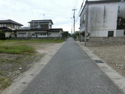 【前面道路含む現地写真】米子市宗像 売土地