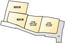 八女市室岡5区画分譲地の画像