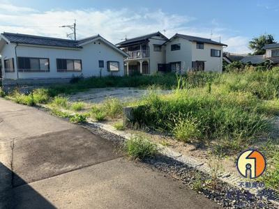 【前面道路含む現地写真】八女市室岡5区画分譲地