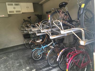 駐輪場です!!