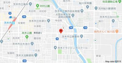 【地図】ヴィラボナールA棟