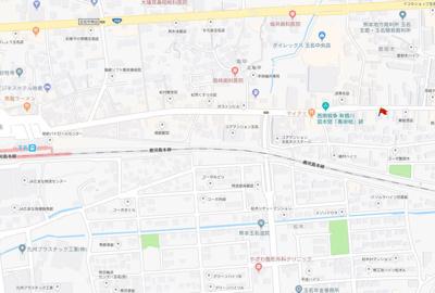 【地図】玉名市繁根木
