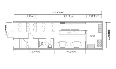 【外観】1階路面店/居抜き/西区京町堀1/肥後橋駅