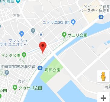 【地図】沖縄市海邦2丁目戸建
