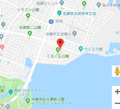 【地図】沖縄市泡瀬3丁目戸建て