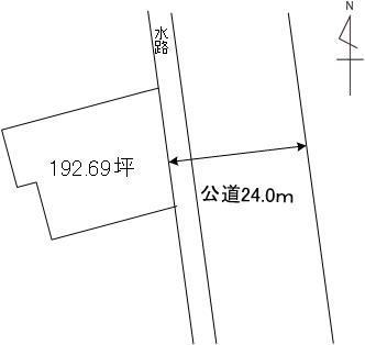 【土地図】浜田2丁目土地