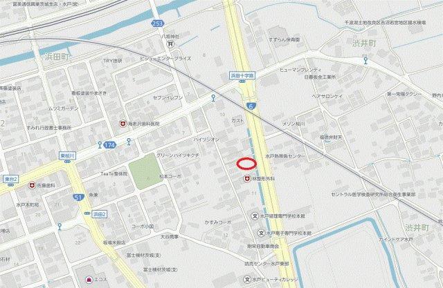 【地図】浜田2丁目土地