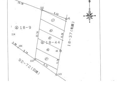 【区画図】東川島山本第2駐車場