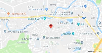 【地図】茨木郡山B住宅A-17