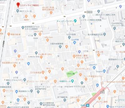 【地図】エスティライフ梅田北
