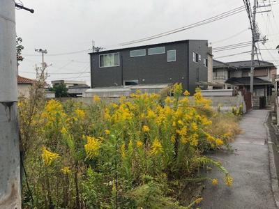 【前面道路含む現地写真】【売地】河北中学校区・56550