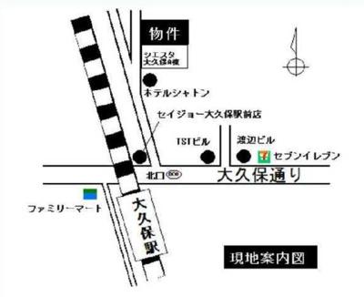シエスタ大久保B棟の地図☆