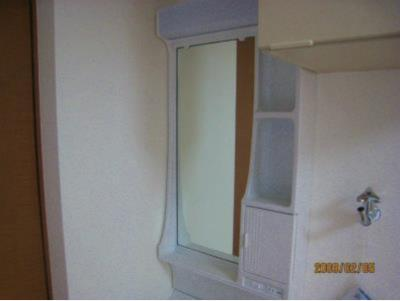 シエスタ大久保B棟の使いやすい独立洗面台です