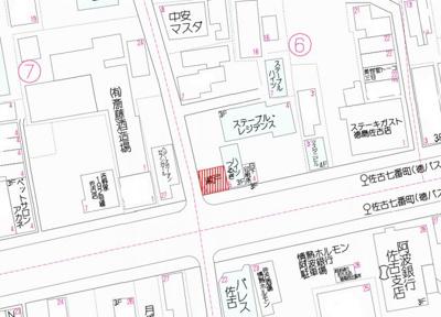 【地図】徳島市佐古七番町(No.34)